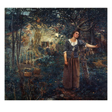 Joan Of Arc (C1412-1431) realism artwork by Jules Bastien Lepage