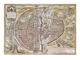 Paris Map  1581