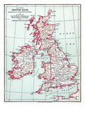 Map: British Isles  C1890