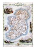 Map: Ireland  1851