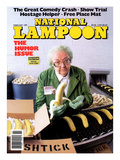 National Lampoon  February 1991 - Great Comedy  Old Woman with Bananas and Boxes of Shtick