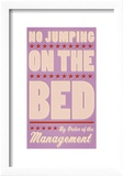 No Jumping on the Bed (pink)
