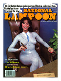 National Lampoon  December 1984 - Natalie Lamp Spokesperson   in Painted Suit