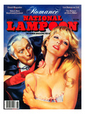 National Lampoon  June 1981 - Romance: Vampires Denture Catch on Woman&#39;s Neck