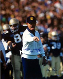 Lou Holtz Pointing with White Sweater Ken Regan 1 w/ &quot;1990&quot;