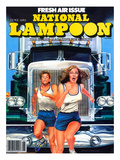National Lampoon  June 1980 - Fresh Air Issue  Running from a Big Rig Truck