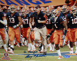 "Doug Marrone Syracuse Running with Team ""Go Orange""Autographed Photo (Hand Signed Collectable)"