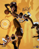 Magic Johnson Overhead View Yellow Floor