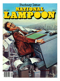 National Lampoon  January 1980 - Fantasy Issue  Desk Flying