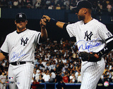 Joba Chamberlain / Derek Jeter Dual Signed Fist Pound (MLB Auth)