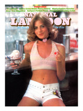 National Lampoon  October 1974 - Pubescence  Girl with Sundae and Cherry and Little White Shorts