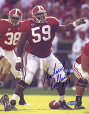 Antoine Caldwell Alabama Pointing At The Line Autographed Photo (Hand Signed Collectable)