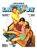 National Lampoon, November 1979 - Love Issue, Mom Catches Kids Getting Fresh on the Couch Reproduction d'art