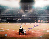 Hank Aaron Color 715th Home Run Autographed Photo (Hand Signed Collectable)