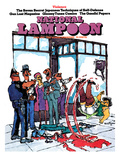 National Lampoon  June 1973 - Violence  Slipping in Blood