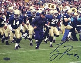 Tony Rice Signed Lou Holtz Running With Team