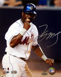 Lastings Milledge Fist Pump Signed (MLB Auth) Autographed Photo (Hand Signed Collectable)