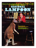 National Lampoon  January 1974 - Animals  Kangaroo at the Bar