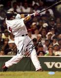 Manny Ramirez Vertical Home Swing (Signed In Black)
