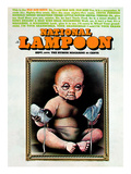 National Lampoon  September 1974 - Old Age Issue  Baby with Old Face and Shoes