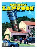 National Lampoon  October 1980 - Agression Rocket Missile Lands in Garage