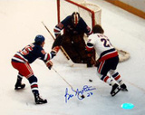Bob Nystrom Shot on goal vs Rangers Autographed Photo (Hand Signed Collectable)
