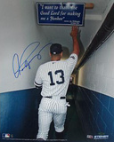 Alex Rodriguez Touching The Joe DiMaggio Quote In The Yankee Stadium Tunnel (MLB Auth)