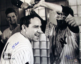 Yogi Berra Champagne Celebration B&amp;W (Signed by Regan) (MLB Auth)