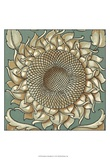 Sunflower Woodblock I