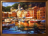 Couleurs de Portofino Reproduction encadrée par Michael O'Toole