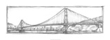 Golden Gate Bridge Sketch