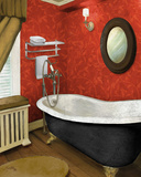 Red Farmhouse Bath I