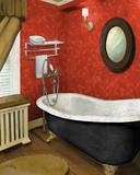 Red Farmhouse Bath I