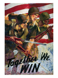 WWII: Biracial Unity Poster