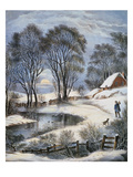 Currier &amp; Ives: Winter Moonlight
