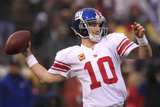 New York Giants and San Francisco 49ers - Jan 22  2012: Eli Manning