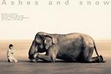 Garçon qui lie à un éléphant, Mexico city Reproduction d'art par Gregory Colbert