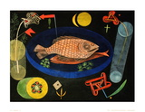 Around The Fish Reproduction d'art par Paul Klee