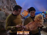 Star Trek: The Original Series  Captain Kirk and Sulu  with an Alien Dog Rhylo