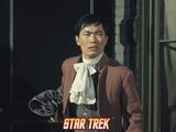 "Star Trek: The Original Series  Sulu in ""Return of the Archons"""
