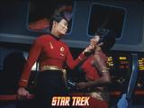 "Star Trek: The Original Series  Sulu's Counterpart with Uhura's Counterpart in ""Mirror  Mirror"""