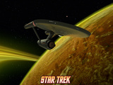 Star Trek: The Original Series  Starship near Planet