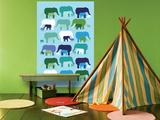 Blue Elephant Pattern