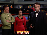 "Star Trek: The Original Series  Captain Kirk  Uhura and a Visage of Lincoln in ""The Savage Curtain"""
