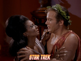 "Star Trek: The Original Series  Uhura and Kirk in ""Plato's Stepchildren"""