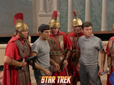 "Star Trek: The Original Series  Dr McCoy and Mr Spock in ""Bread and Circuses"""