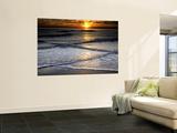 Sunset Reflection on Beach  Cape May  New Jersey  USA