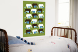 Green Elephant Pattern