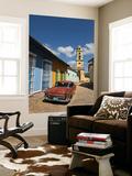 Old Classic Chevy on Cobblestone Street of Trinidad  Cuba