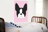 Pink Boston Terrier